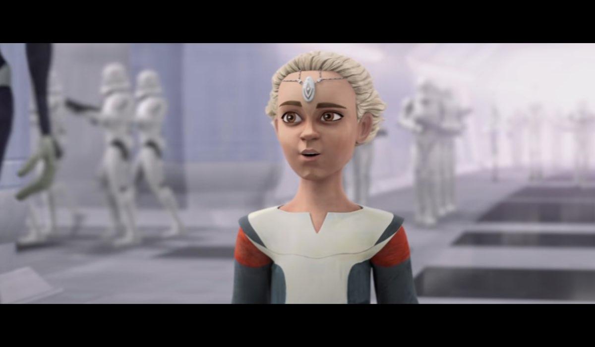 """Omega, la clone di Jango Fett che debutta in """"The Bad Batch"""". Credits: Lucasfilm/Disney."""