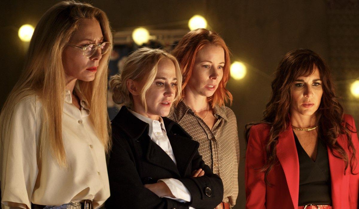 Julia Dufvenius (Elin), Anja Lundqvist (Janni), Eva Rose (Karin) e Alexandra Rapaport (Nour) In Heder serie tv Credtits: Starzplay