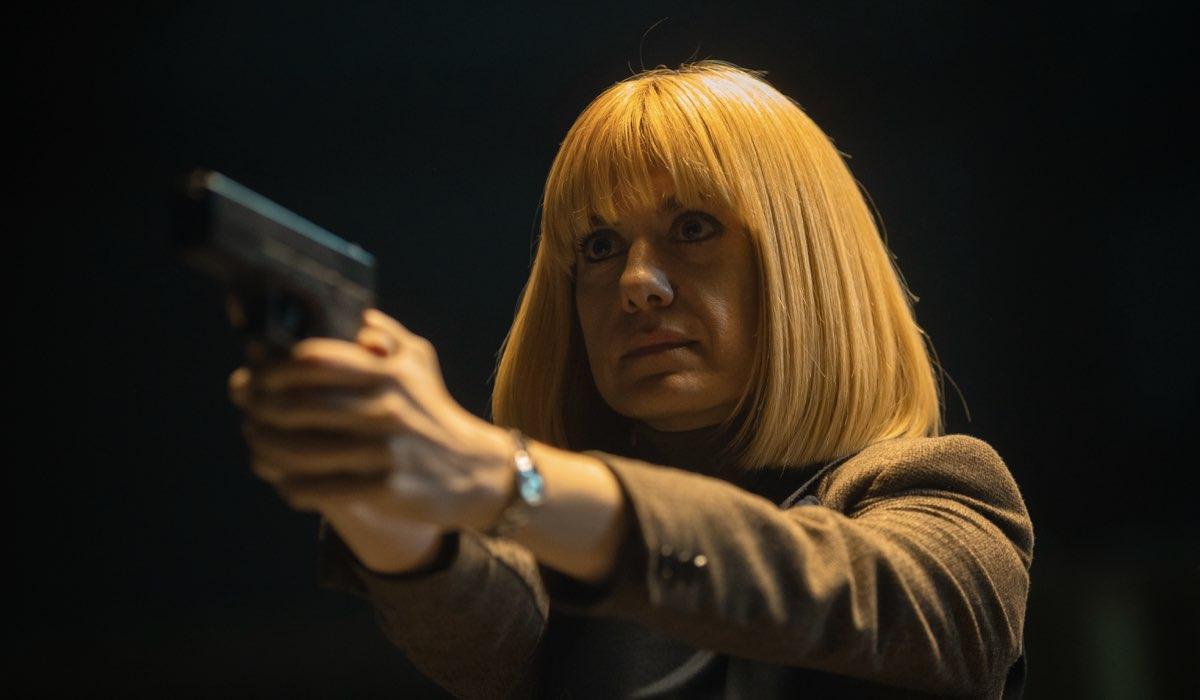 Alexandra Jiménez nel ruolo di Lorena in Suburbia Killer. Credits: Quim Vives/Netflix.