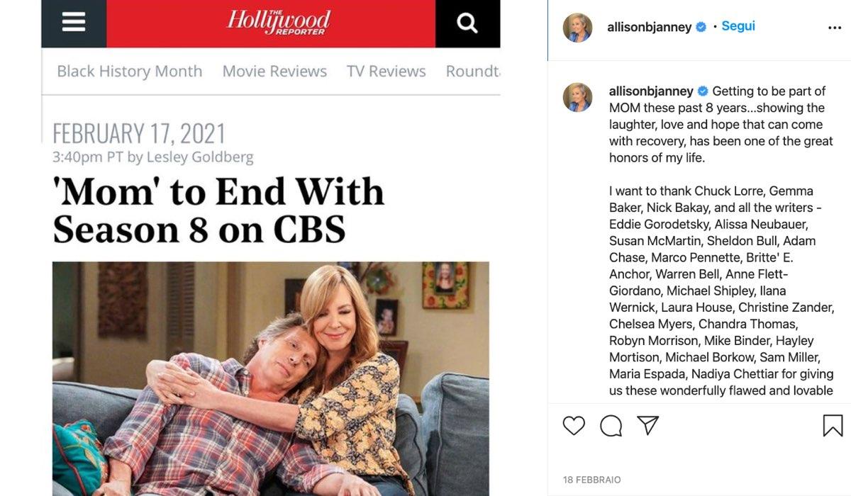 Post Condiviso Sul Profilo Instagram Ufficiale Di Allison Janney