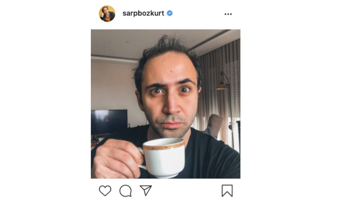 Screenshot Di Una Foto Di Sarp Bozkurt (Erdem In Love Is In The Air) Condivisa Sul Suo Profilo Instagram Ufficiale