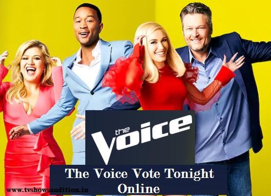 The Voice Vote Tonight Online, Voting Line, Through App, Website