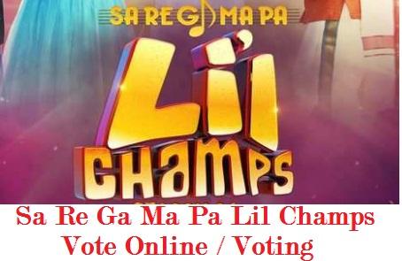 Sa Re Ga Ma Pa Lil Champs Vote Online, Voting Polls