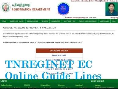 TNREGINET EC Online Guide Lines, Values, TN ESevai