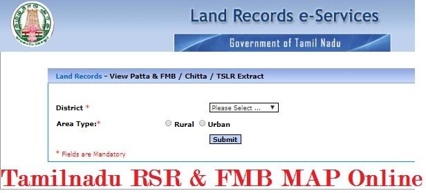 Tamilnadu RSR & FMB MAP Online, Land Record Download