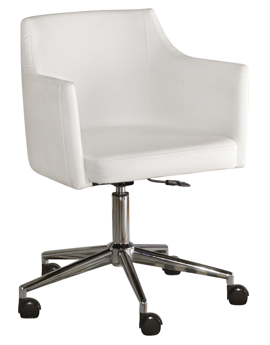 Baraga Home Office Swivel Desk Chair In White H410 01A