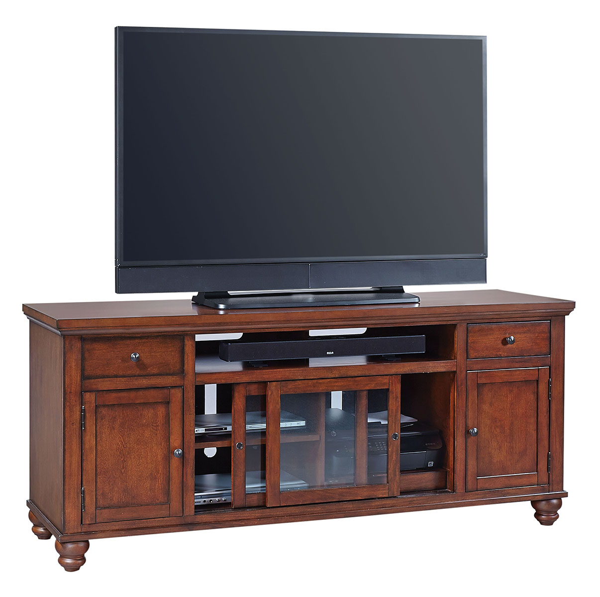 Aspenhome Cambridge 75 Console In Brown Cherry ICB 272 BCH