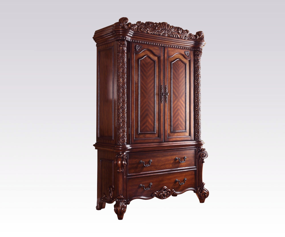 Acme Vendome Traditional TV Armoire In Cherry 22007