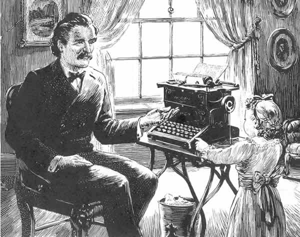 Image result for mark twain's typewriter