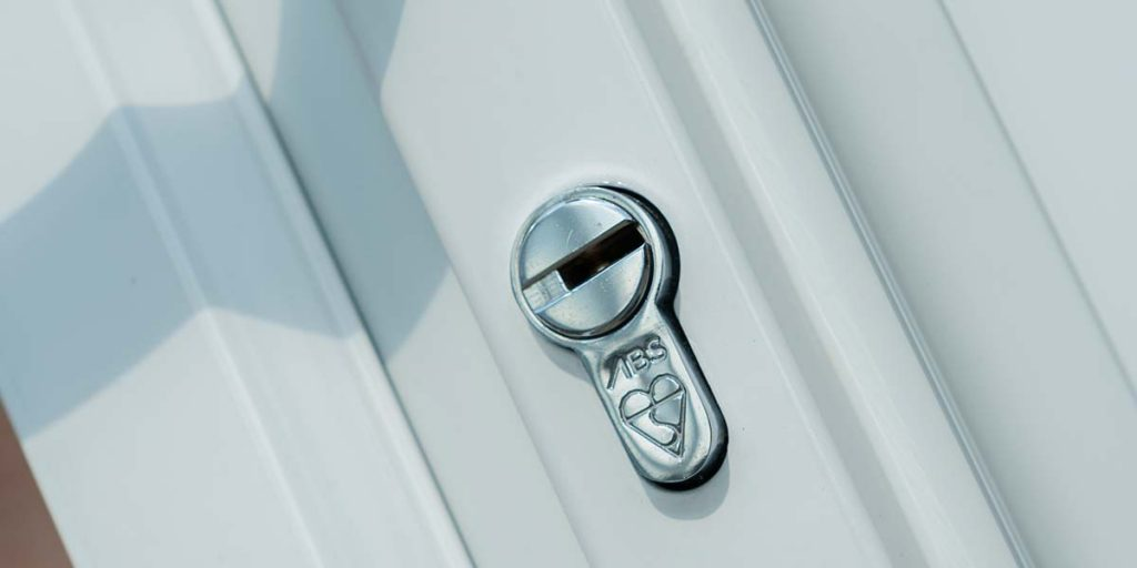 White UPVC Frames & Security Lock