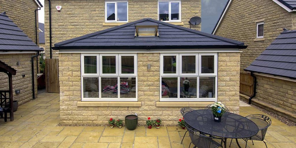Stone Built Orangery with Tiled Roof