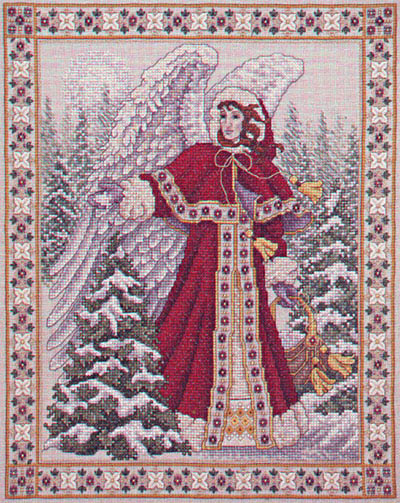 Image of Angel of Frost cross stitch design by Teresa Wentzler
