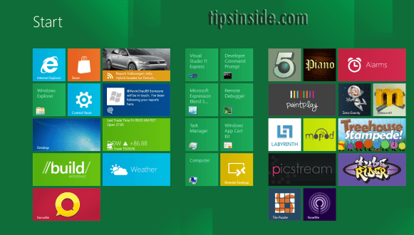 windows 8 appearance