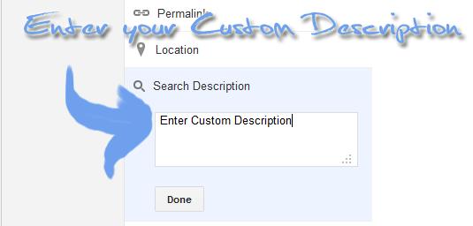 Custom Description in post