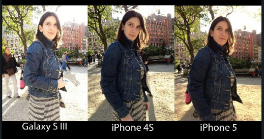 image quality comparission for iphone 5
