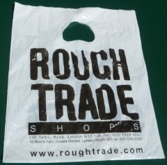 Image result for rough trade record shop  carrier bag 1977