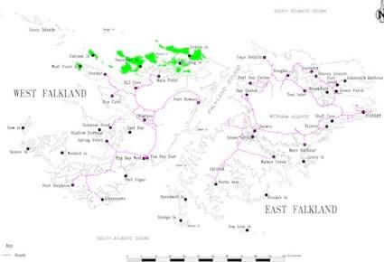 Falkland Islands map
