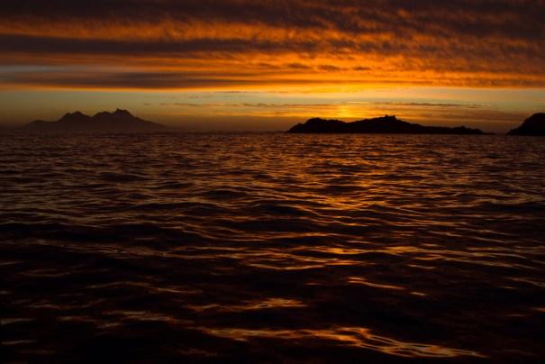 Sunset at Sandefiord by Christopher James Harris.
