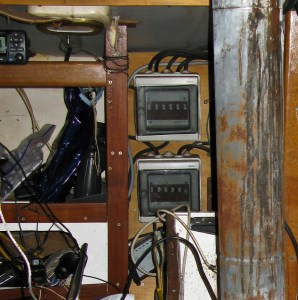 The old electrical panel