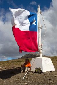 The bandera on Cerro bandera
