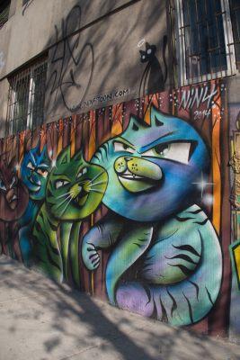 Street art in Barrio Belavista, Santiago, Chile