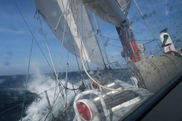 "Upwind aboard ""Pelagic Australis"""