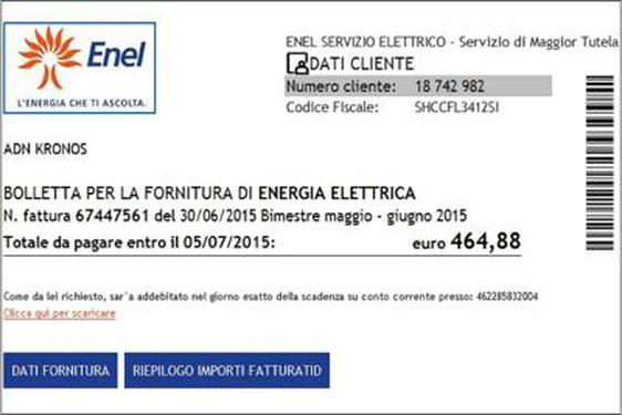 scaricare bolletta enel servizio elettrico