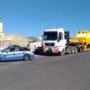 Pisa: traina un locomotore di 43 m. sulla S. G. C. per Livorno, bloccato dalla Polizia stradale