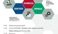 Giustizia, sicurezza ed impresa. Martedì 17 ottobre a Roma