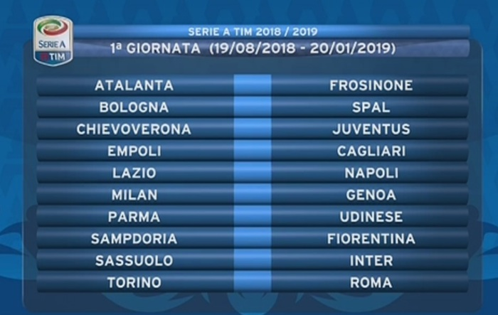 Calendario Serie A Sampdoria.Calendario Serie A Prima Giornata Sampdoria Fiorentina