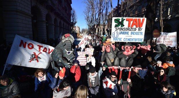 No Tav, settantamila in Piazza Castello a Torino