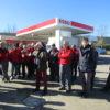 A Colle val d'Elsa (Siena) la manifestazione dei gestori Esso del gruppo Petrolifera Adriatica