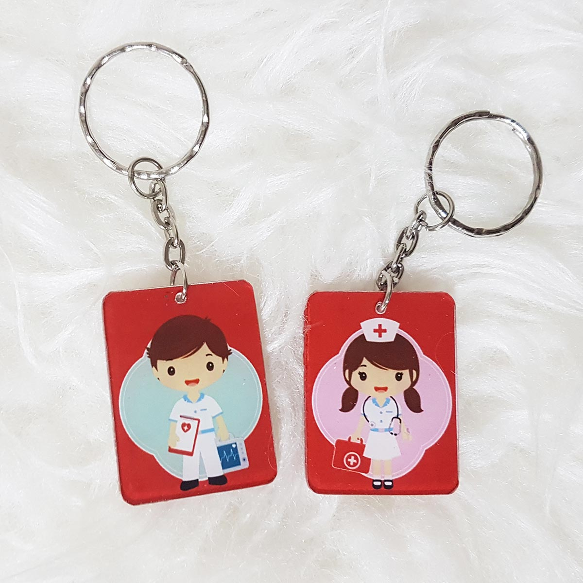 Customized Party Favours - Rectangle Acrylic Keychain Double Sided