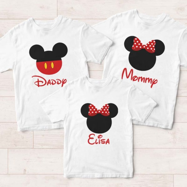 916bf114 Personalised Family Tee Singapore | Mickey Minnie Adult & Kids T-Shirts