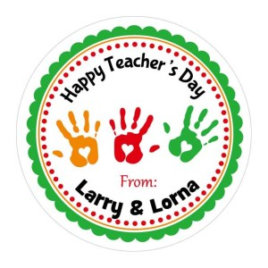 Personalized Teacher Gift Stickers