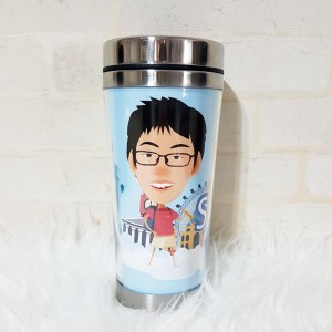 personalized water bottle singapore - printing photo on cup / tumbler