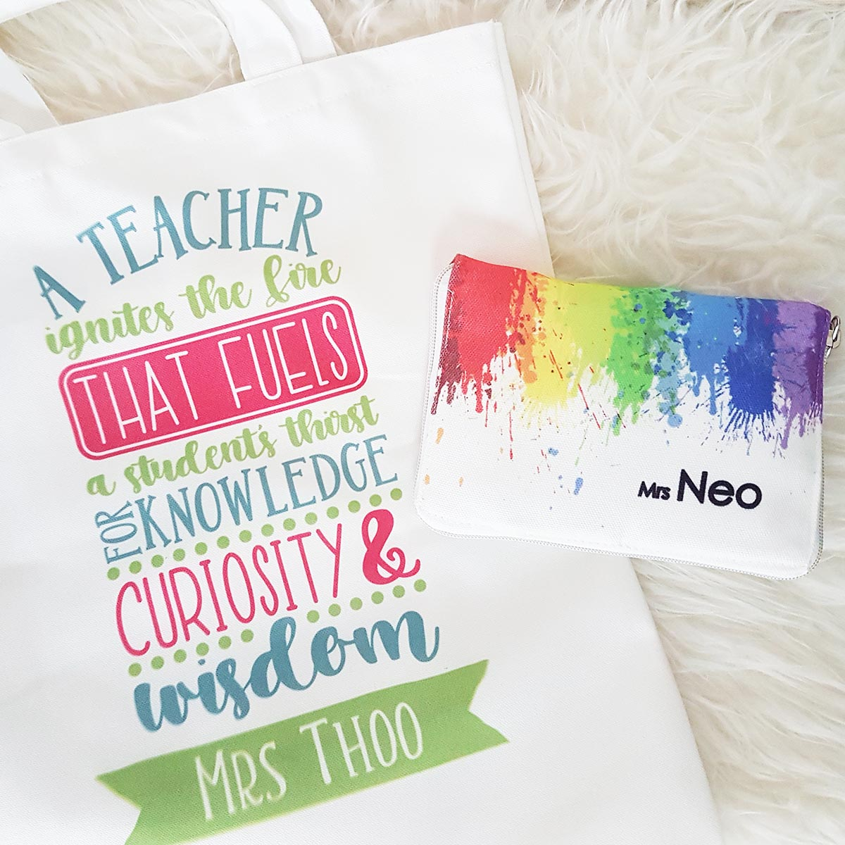 Personalized Canvas Tote Bags for Teachers Singapore