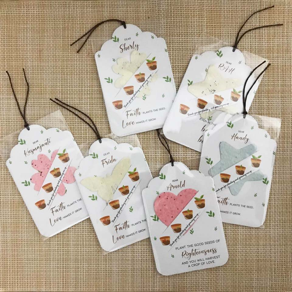Plantable Seeds Paper Singapore - Personalised Party Favour