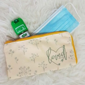 Disposable Face Mask Pouch Personalised with Name | Singapore Personalised Gifts
