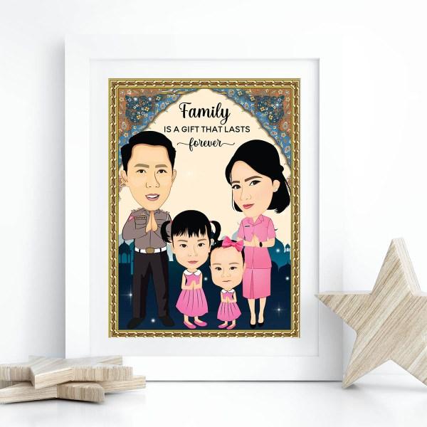 Customised Caricature Prints Singapore - Personalised Photo Gifts