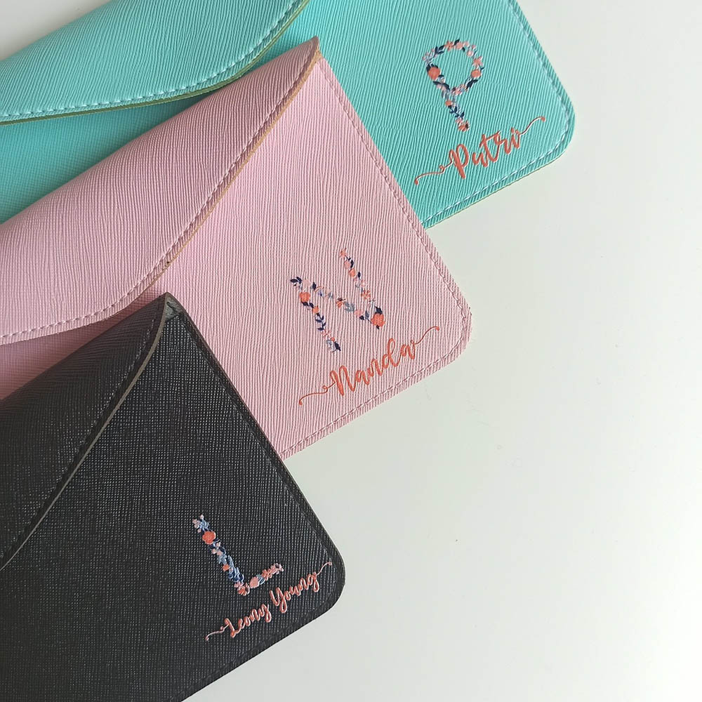 Personalised Pouch with Initial & Name | Customized Gifts Singapore