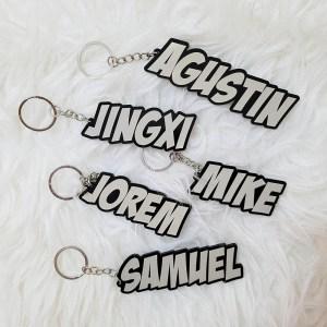 Personalized Name Acrylic Keychains (Engraved) Singapore