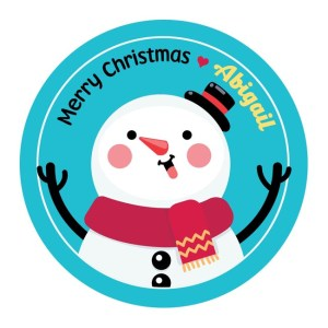 Personalised Snowmen Christmas Stickers