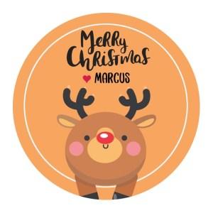 Cute Reindeer Customised Christmas Labels