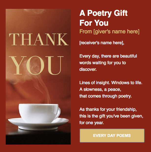 Best Poem A Day From Every Day Poems Tweetspeak NY USA