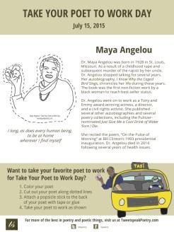 Take Your Poet to Work Day Printable Maya Angelou