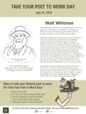 Take Your Poet to Work Day Walt Whitman