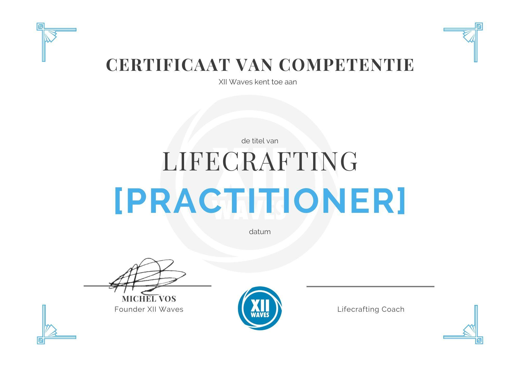 lifecrafting practitioner xii waves academy michel vos