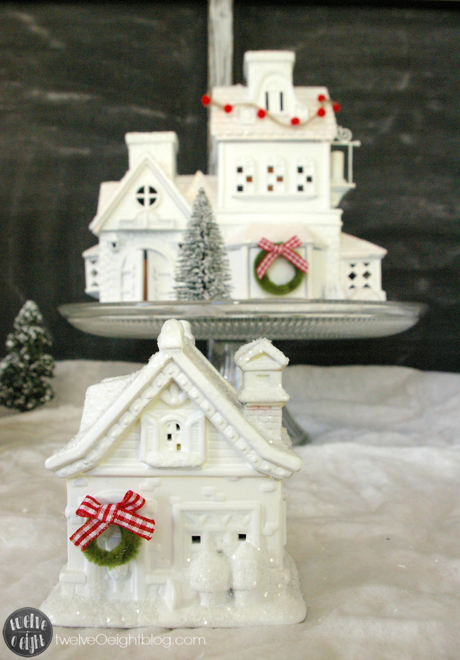 Red White Buffalo Check Christmas Light Garland