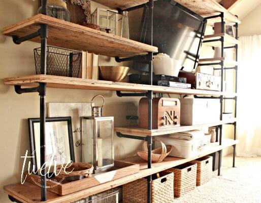 DIY Industrial Pipe Shelves Twelve On Main